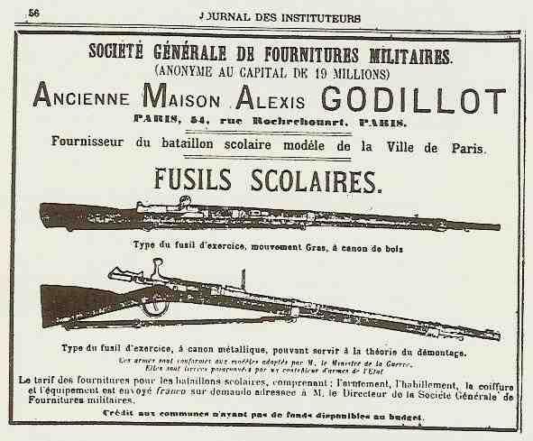 Le fusil scolaire de la maison  Godillot